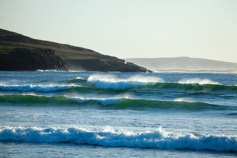 Waves on Tramore Strand, Dunfanaghy, Co Donegal, Ireland.