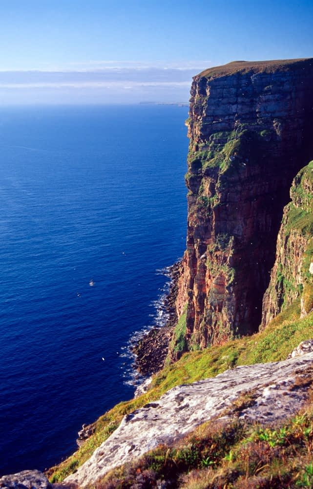 The sea cliffs of St Johns Head, Hoy, Orkney Isles, Scotland.