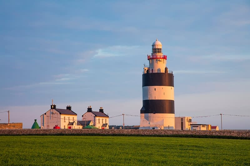 Evening light on Hook Head lighthouse, County Waterford, Ireland.