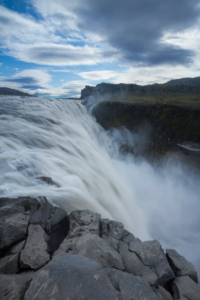 Dettifoss waterfall, Europe's highest volume fall, Jokulsargljufur, Nordhurland Eystra, Iceland.