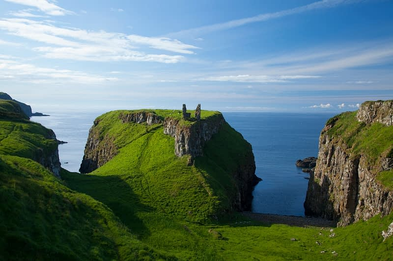 Dunseverick Castle, County Antrim, Northern Ireland.