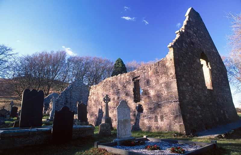Killevy Old Church, Ring of Gullion Way, Co Armagh, Northern Ireland.
