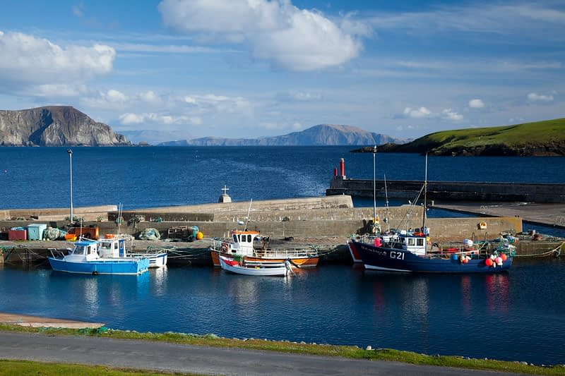 Fishing Boats at Purteen Harbour, Achill Island, Co Mayo, Ireland.