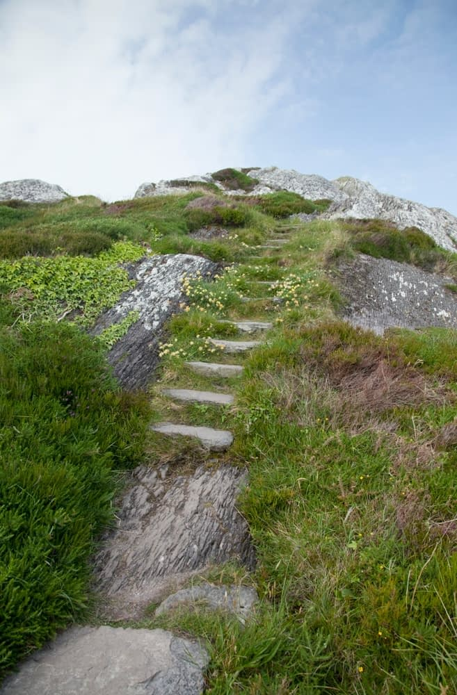 The old Mass Path, Derrynane Harbour, Caherdaniel, Co Kerry, Ireland.