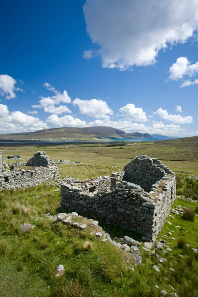 The Deserted Village, Achill Island, Co Mayo, Ireland.