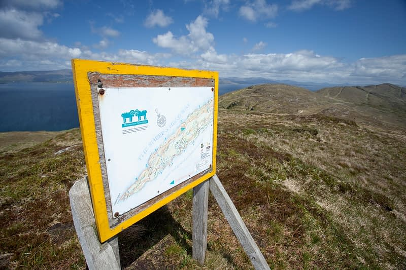 Information board for the Sheep's Head Way, Sheep's Head, Co Cork, Ireland.