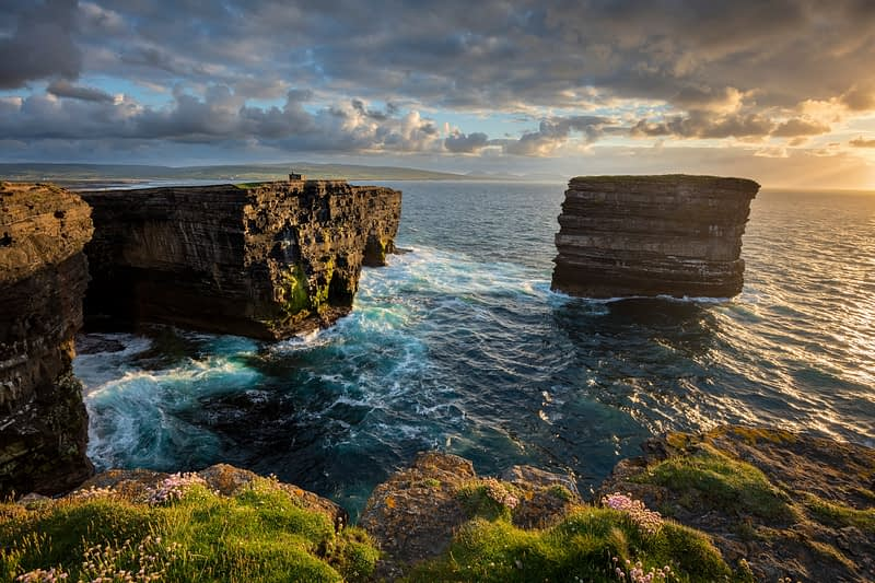 Evening at Dun Briste, Downpatrick Head, County Mayo, Ireland.