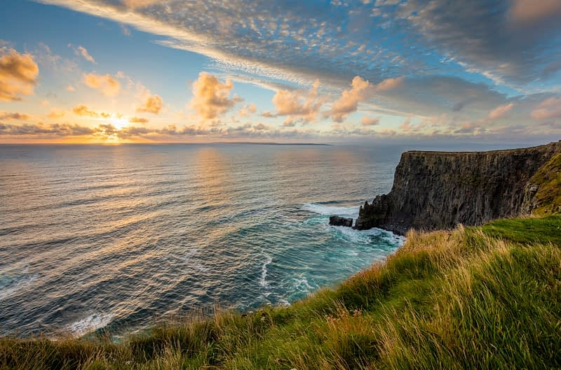 Evening at the Cliffs of Moher, County Clare, Ireland.