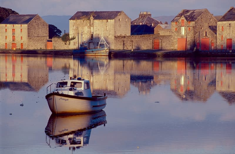 Reflections of Ramelton harbour, Co Donegal, Ireland.