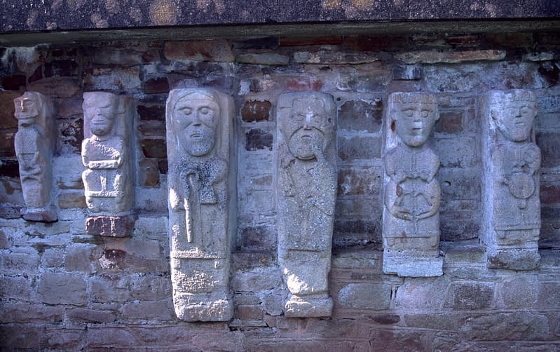 Early Christian carvings, White Island, Lough Erne, County Fermanagh, Northern Ireland.