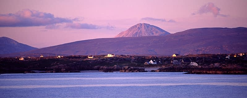 Errigal Mountain and the Rosses from Aranmore Island, Co Donegal, Ireland.