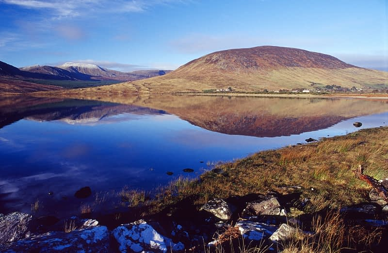 Lough Feeagh and the Nephin Beg mountains, Co Mayo, Ireland.