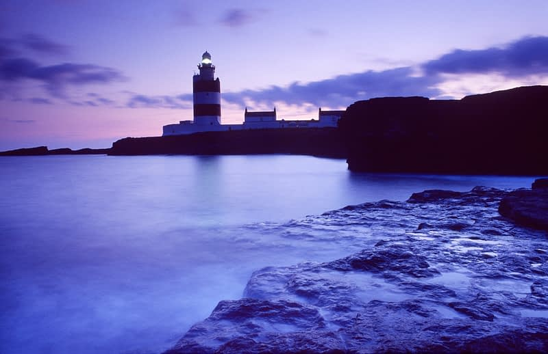 Dusk at Hook Head Lighthouse, Co Wexford, Ireland.