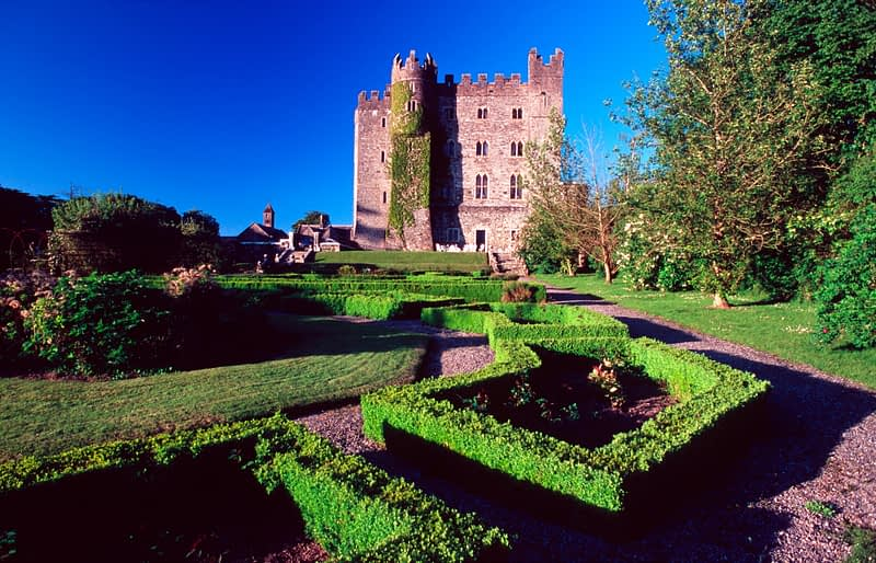The medieval stronghold of Kilkea Castle, County Kildare, Ireland.