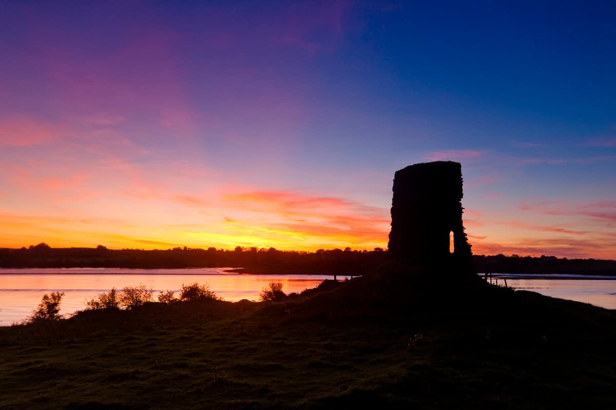 Sunset over Castleconnor and the River Moy, Co Mayo, Ireland.