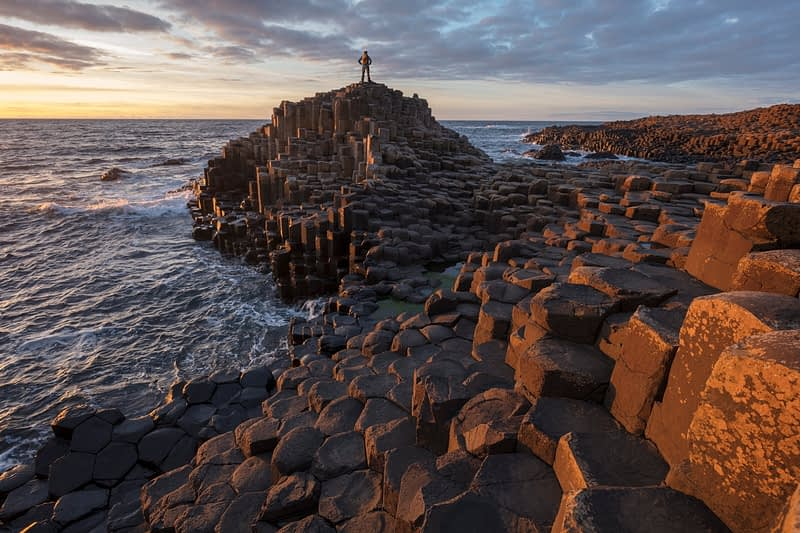 Evening at the Giant's Causeway, Country Antrim, Northern Ireland.