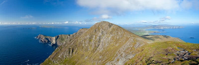 Panorama of Achill Island from Croaghaun, Co Mayo, Ireland.