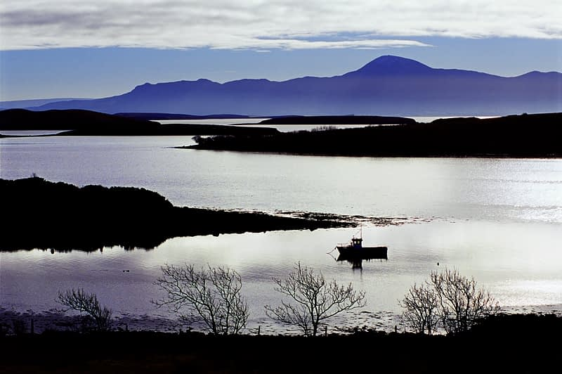 Clew Bay and Croagh Patrick, Co Mayo, Ireland.