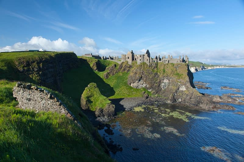 Dunluce Castle, County Antrim, Northern Ireland.
