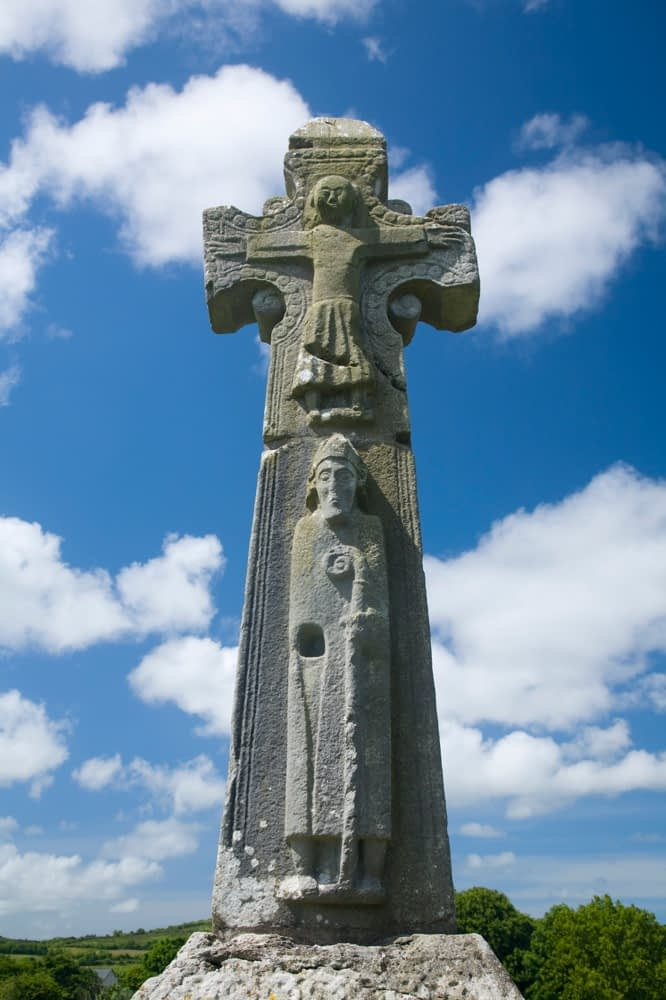 St Tola's High Cross, Dysert O'Dea, Co Clare, Ireland.