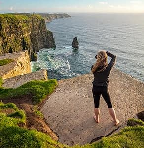Photographing the Cliffs of Moher on private photo tours Ireland