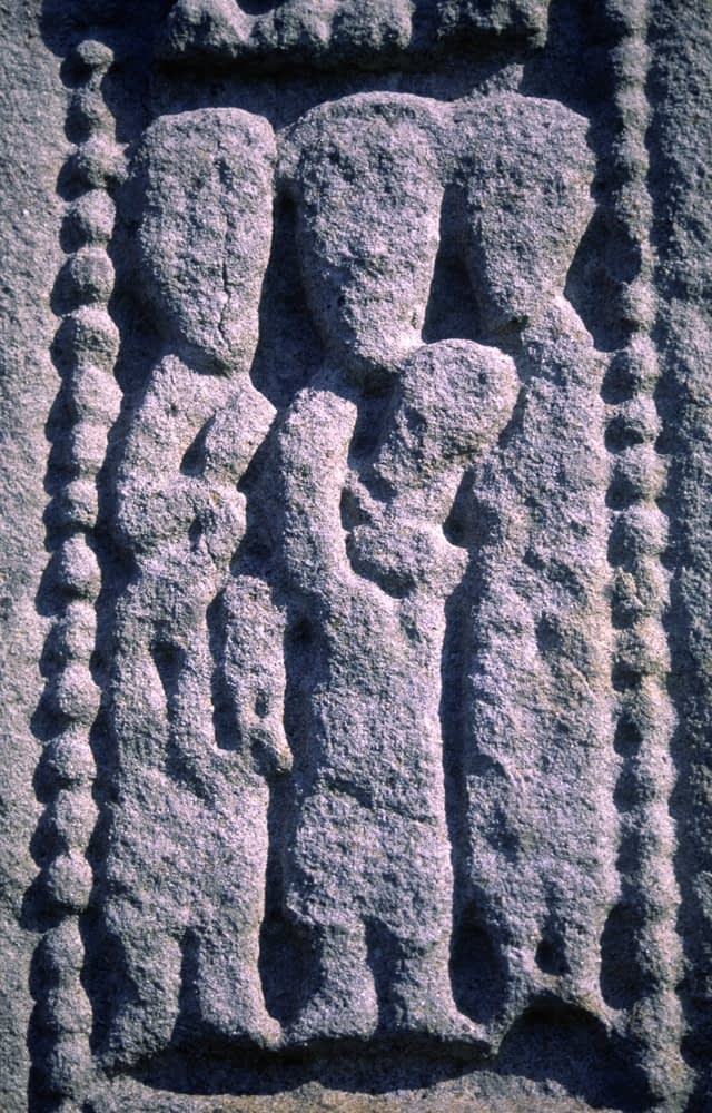 Carving detail of an 11th Century High Cross, Drumcliffe, Co Sligo, Ireland.