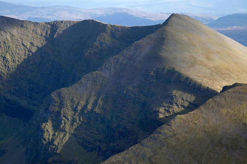 The eastern Reeks from Carrauntoohil, MacGillycuddy's Reeks, County Kerry, Ireland.