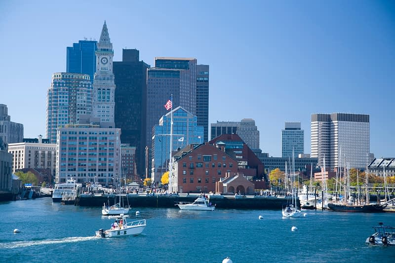 Boston Harbour, Massachusetts, USA.