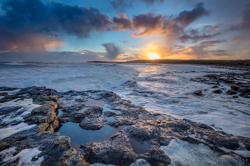 Coastal sunset from Easky, County Sligo, Ireland.