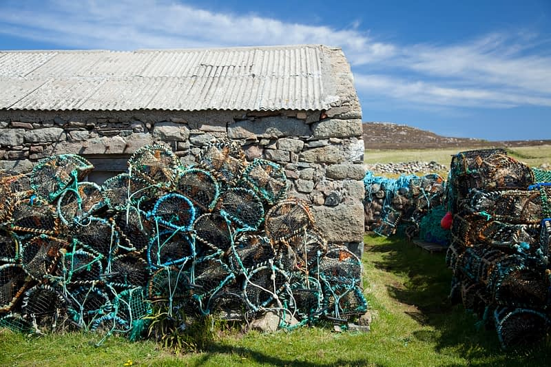 Lobster pots, Tory Island, Co Donegal, Ireland.