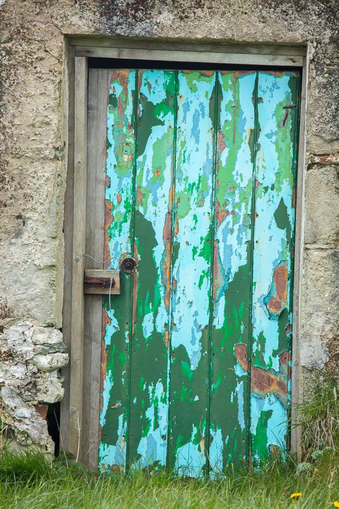 Old cottage door, Achill Island, County Mayo, Ireland.