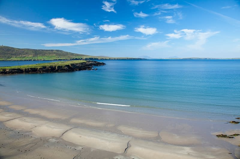 Beach beside Binroe Point, Carrowteige, County Mayo, Ireland.