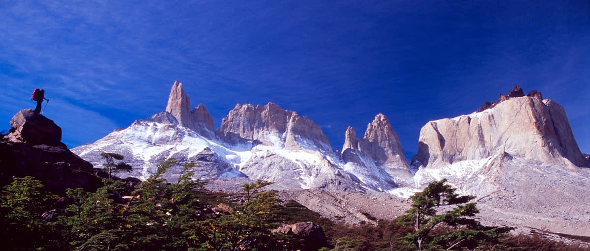 Walker and Cuernos del Paine, French Valley, Paine Circuit, Torres del Paine NP, Patagonia, Chile.