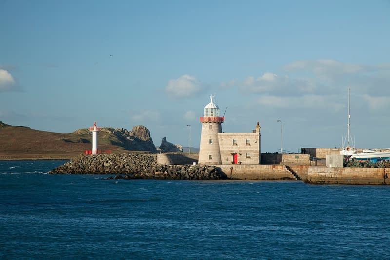 Howth Harbour Lighthouse dates from 1817, Howth Peninsula, County Dublin, Ireland.