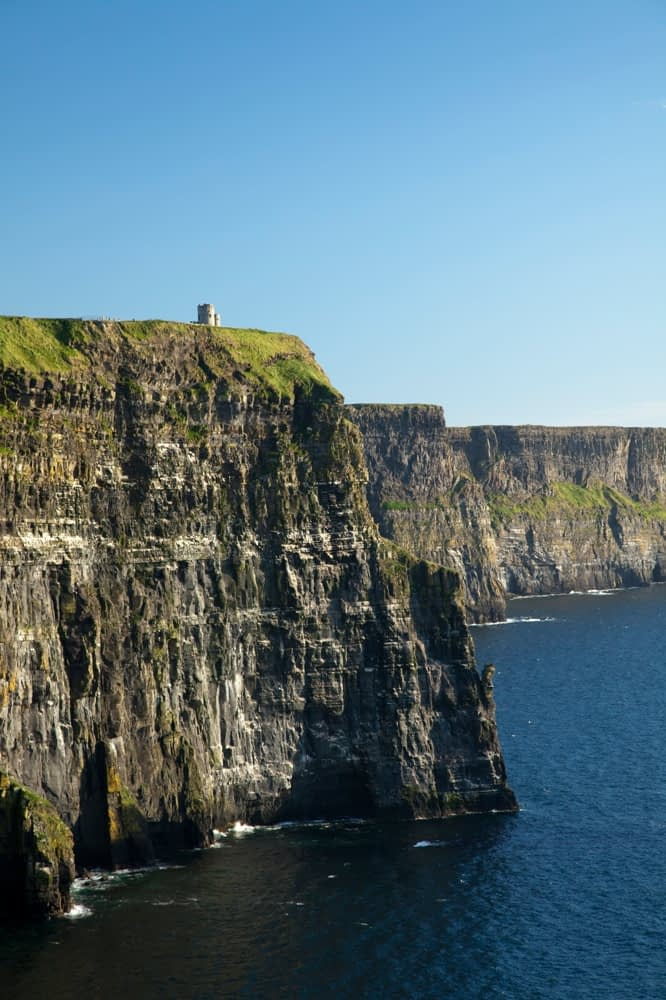 O'Briens Tower and the Cliffs of Moher, Co Clare, Ireland.