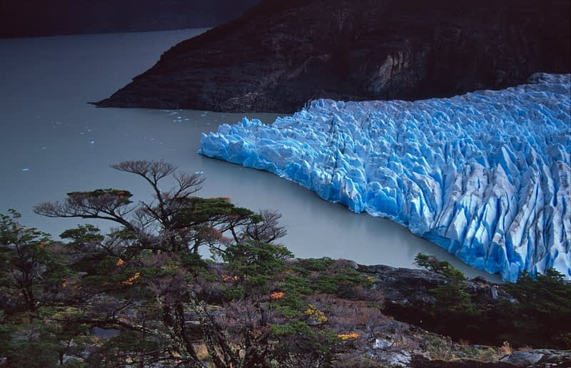 Glacier Grey and Lago Grey, Torres del Paine National Park, Patagonia, Chile.