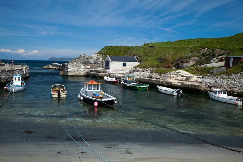 Ballintoy Harbour, County Antrim, Northern Ireland.