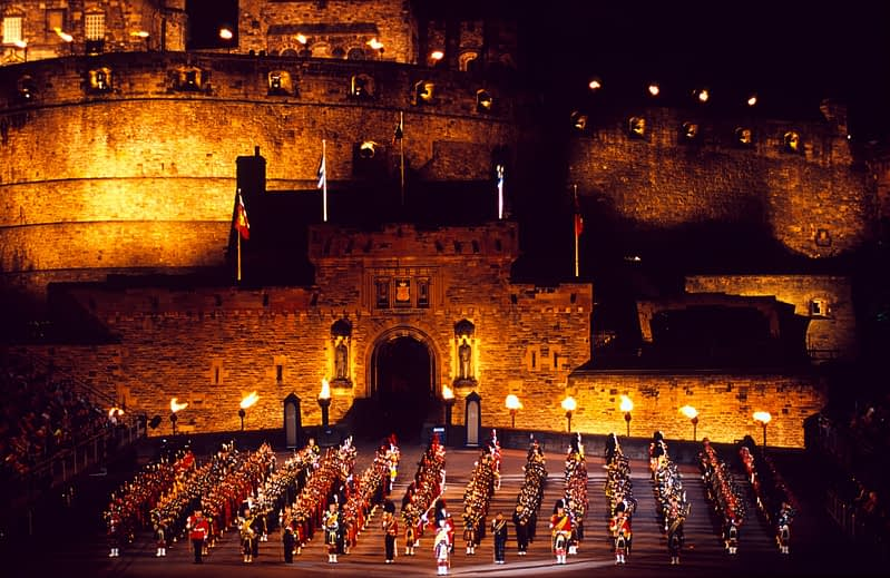 The Military Tattoo, Edinburgh Castle, Edinburgh, Scotland.