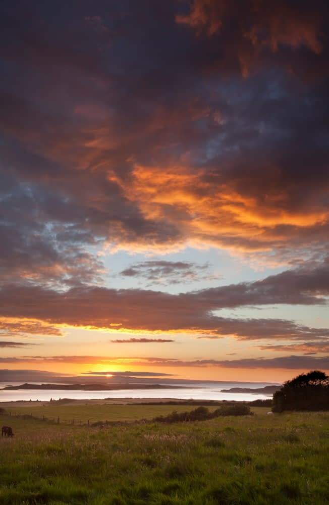 Sunset over the Moy estuary, Co Sligo, Ireland.