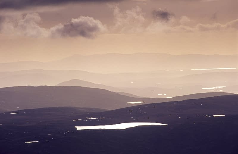 View across the hills and loughs of northwest Donegal, Ireland.