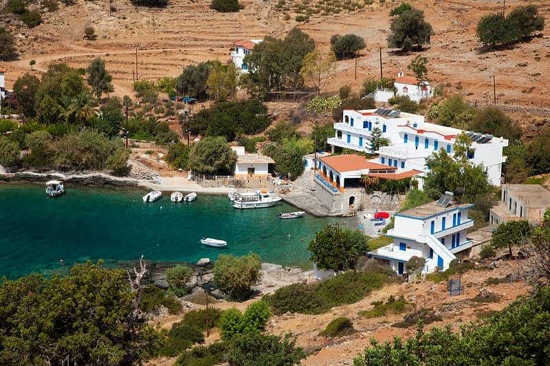 The hamlet of Finix or Phoenix, White Mountains, Sfakia, Crete, Greece.