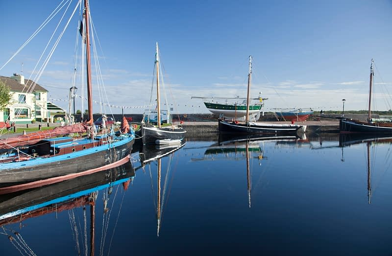 Galway hookers in Kinvara harbour, Co Galway, Ireland.
