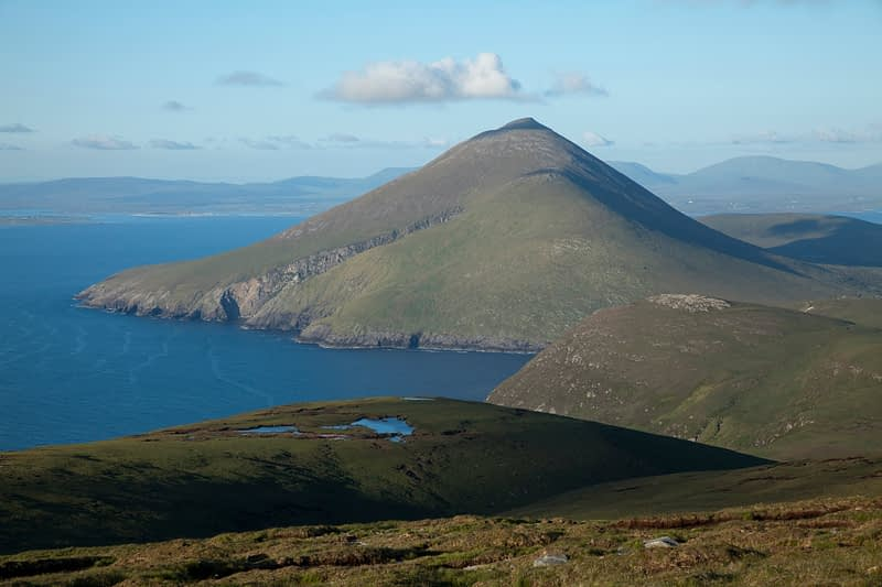 View of Slievemore from Saddle Head, Achill Island, Co Mayo, Ireland.