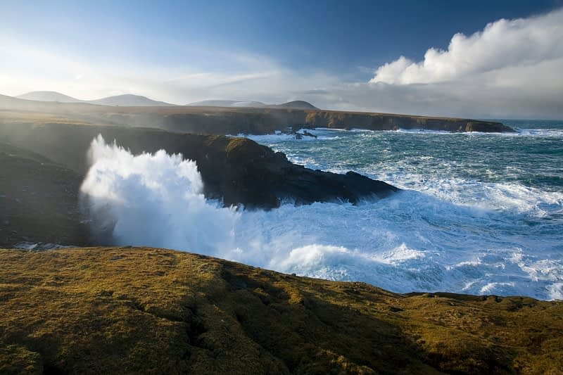 Atlantic swell hitting the North Mayo Seacliffs, Co Mayo, Ireland
