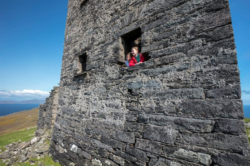 Looking out from the signal tower at Cnoc Bolais, Dursey Island, Beara Peninsula, County Cork, Ireland.