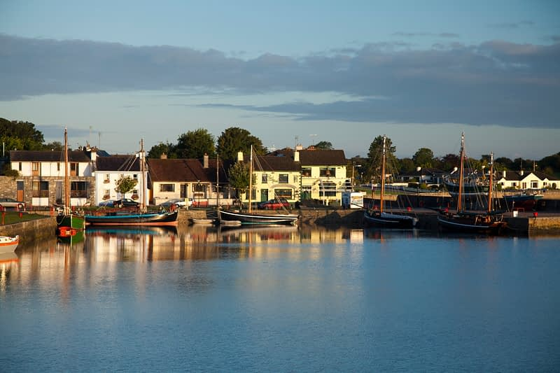 Morning along Kinvara waterfront, Co Galway, Ireland.