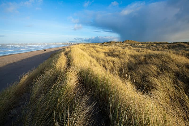 Enniscrone beach and dunes, County Sligo, Ireland.