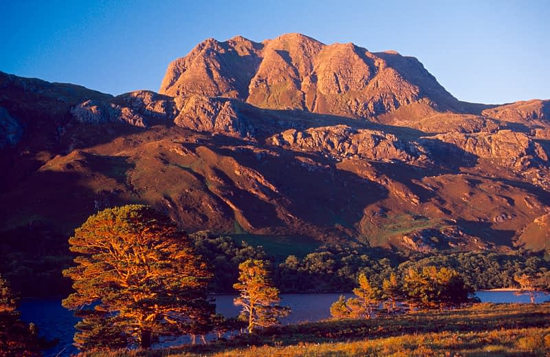 Slioch from the shore of Loch Maree, Wester Ross, Scotland.
