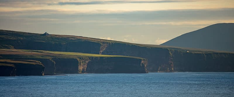Atlantic sea cliffs beneath the Ceide Fields visitor centre. County Mayo, Ireland.