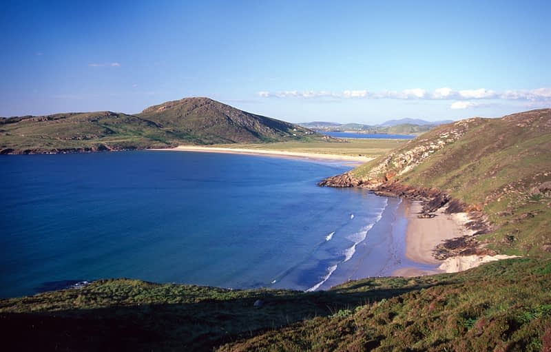Boyeeghter Strand and Melmore Head, Co Donegal, Ireland.